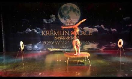Mongolian Circus visiting the Kremlin Palace hotel in Turkey