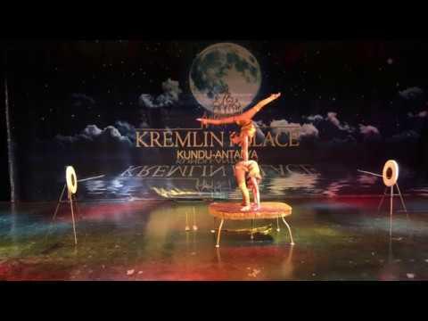 Mongolian Circus visiting the Kremlin Palace hotel in Turkey
