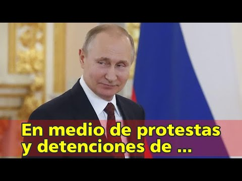 En medio de protestas y detenciones de opositores, Putin juró para un cuarto mandato como presidente