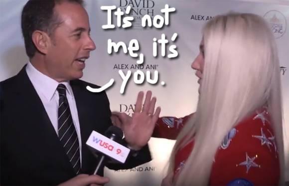 Kesha Who?? Jerry Seinfeld Explains That Awkward Hug Rejection!