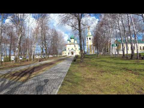Scenic sight of region of Kremlin in the facility of old russian community Uglich