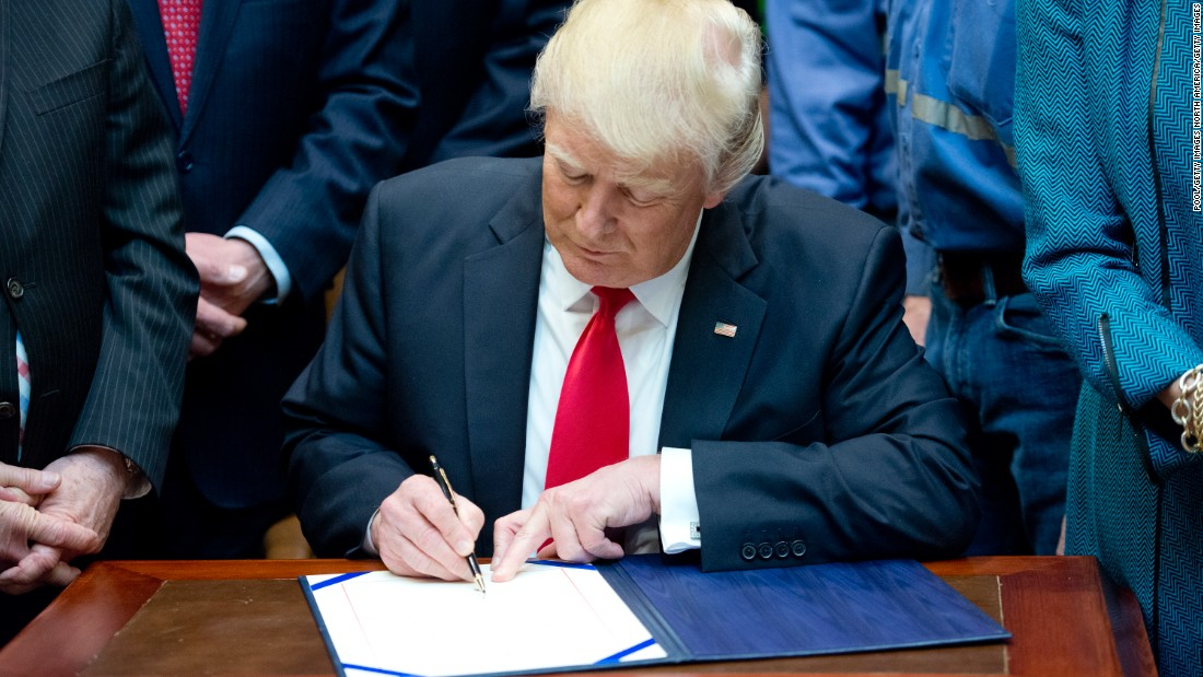 These are the bills Trump signed into law in his first year as President