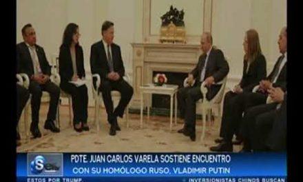 SERTV Presidente Varela sostiene encuentro adversative su homólogo Ruso Vladimir Putin