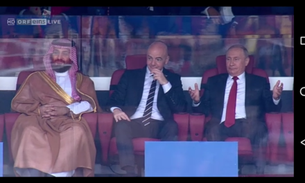 Russia vs. Saudi-Arabia, after 5:0 for Russia was racked up: -RRB-