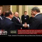 Putin, Ukraine's Poroshenko review Minsk bargain, Russia- held detainees