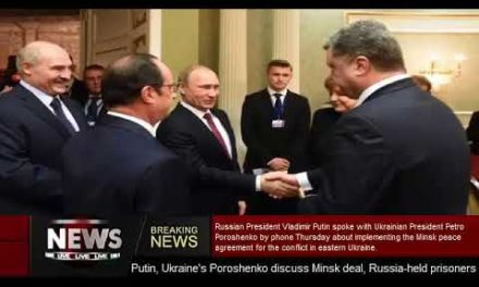 Putin, Ukraine's Poroshenko review Minsk bargain, Russia- held detainees
