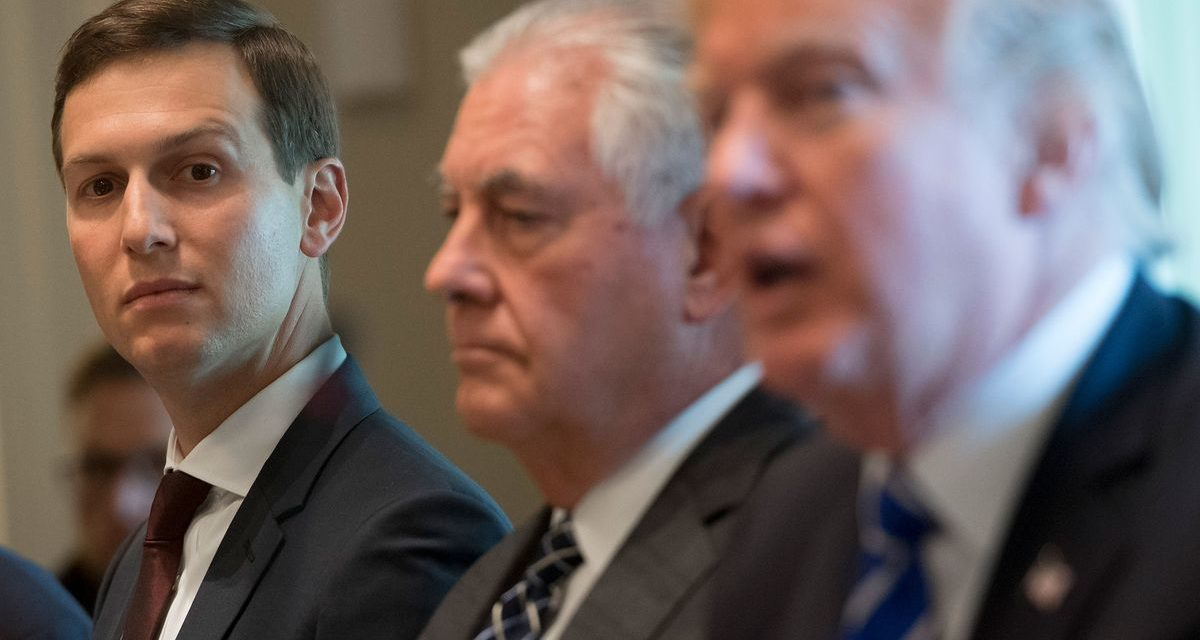 Kushner Is Leaving Tillerson in the Dark on Middle East Talks, Sources Say
