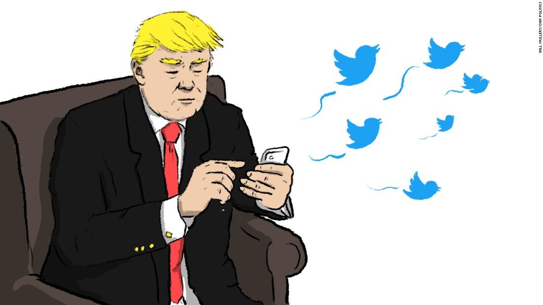 Trump's 2017, in 17 tweets
