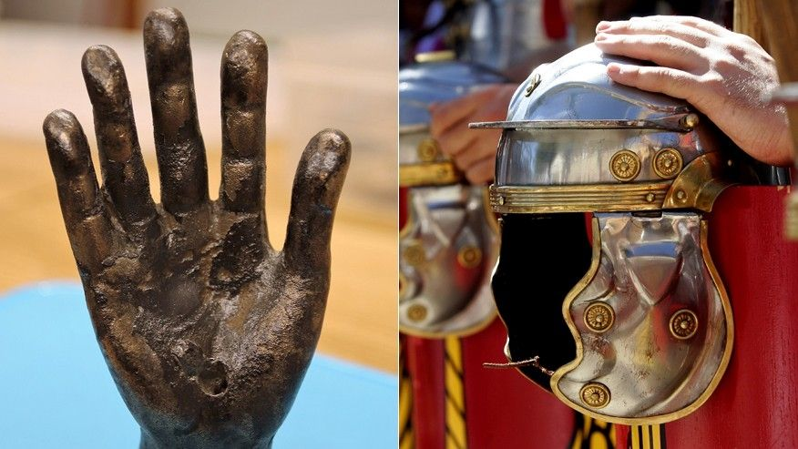 Roman 'hand of god' uncovered by excavators near Hadrian's Wall