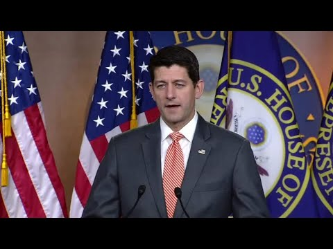 Ryan holds a press conference adhering to the Trump-PutinSummi