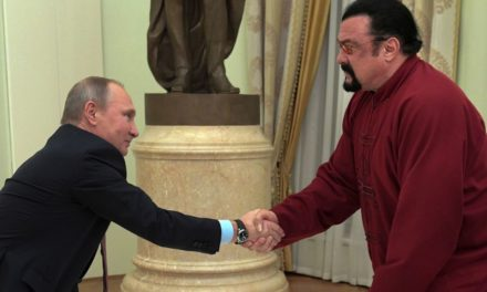 Steven Seagal grabbed his Russian ticket from Vladimir Putin