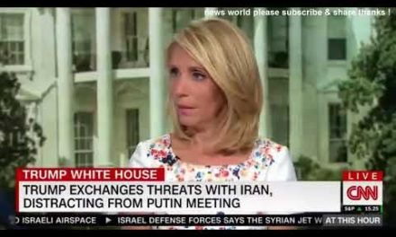DAMAGING NEWS TRUMP EXCHANGES THREATS WITH IRAN DISTRACTING FROM PUTIN MEETING
