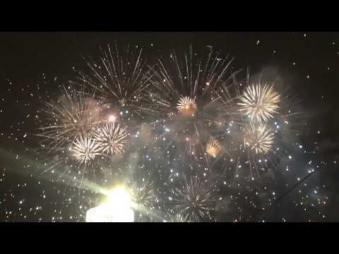 Amazing Firework barring Kremlin, Moscow