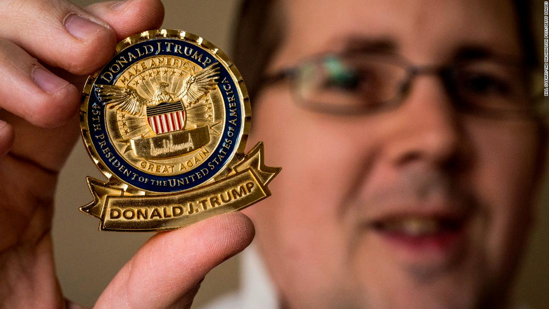 Trump's actual apex remakings US adit his personal affected symbol