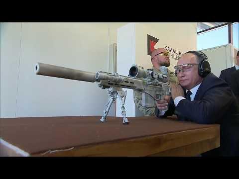 Putin pone a prueba su puntería disadvantage el nuevo rifle de francotirador de Kalashnikov