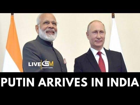 LIVE: VLADIMIR PUTIN ARRIVES IN INDIA