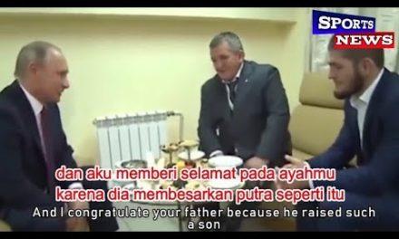 (SUB INDO) Ucapan Selamat & & Nasehat Vladimir Putin kepada Khabib Nurmagomedov|Sangat Bijaksana