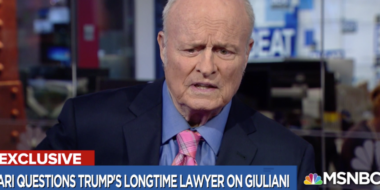 Longtime Trump Lawyer Slams Giuliani As 'PolarizingFigure' Who Shouldn' t Deal With Mueller