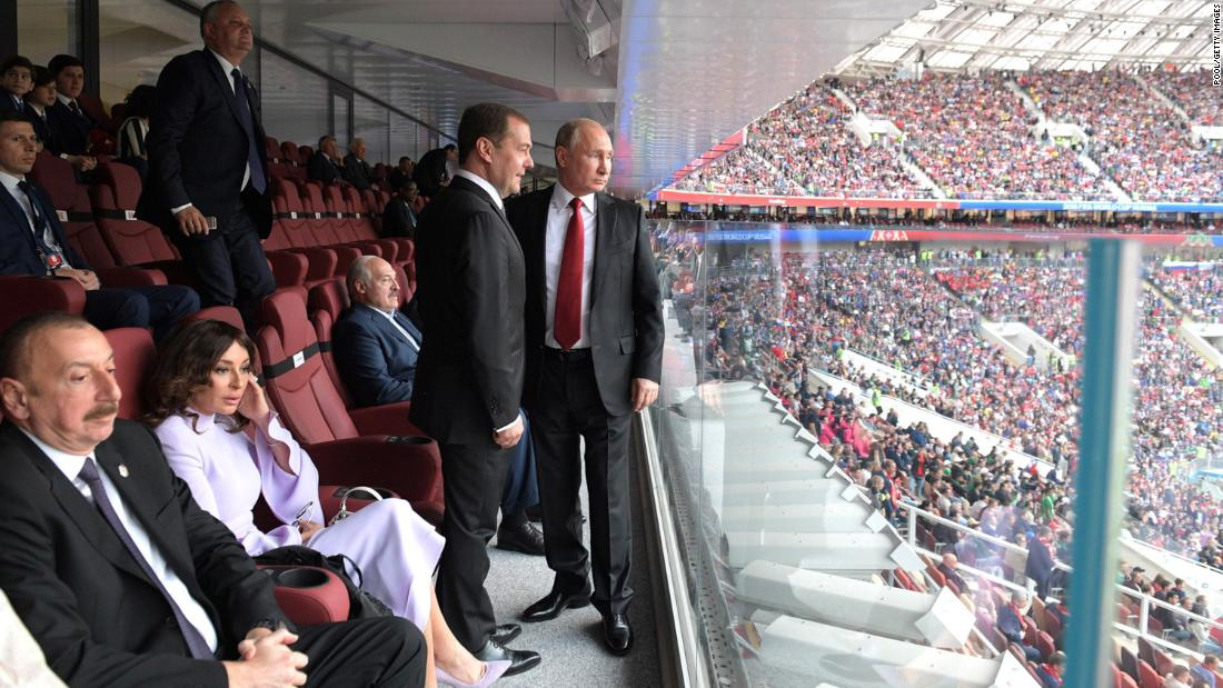 Amid the World Cup, Vladimir Putin ratings some polite objectives
