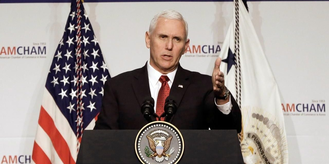 'Thesword stands prepared': Pence cautions North Korea