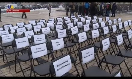 """""""Emptychair"""" Campaign Held in Kyiv to Commemorate Kremlin's Political Prisoners"""