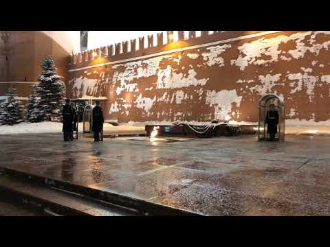 Moscow Kremlin Wall Guard Change 25 th December 2018