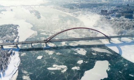 Bridge in Novosibirsk -3 0, Russia