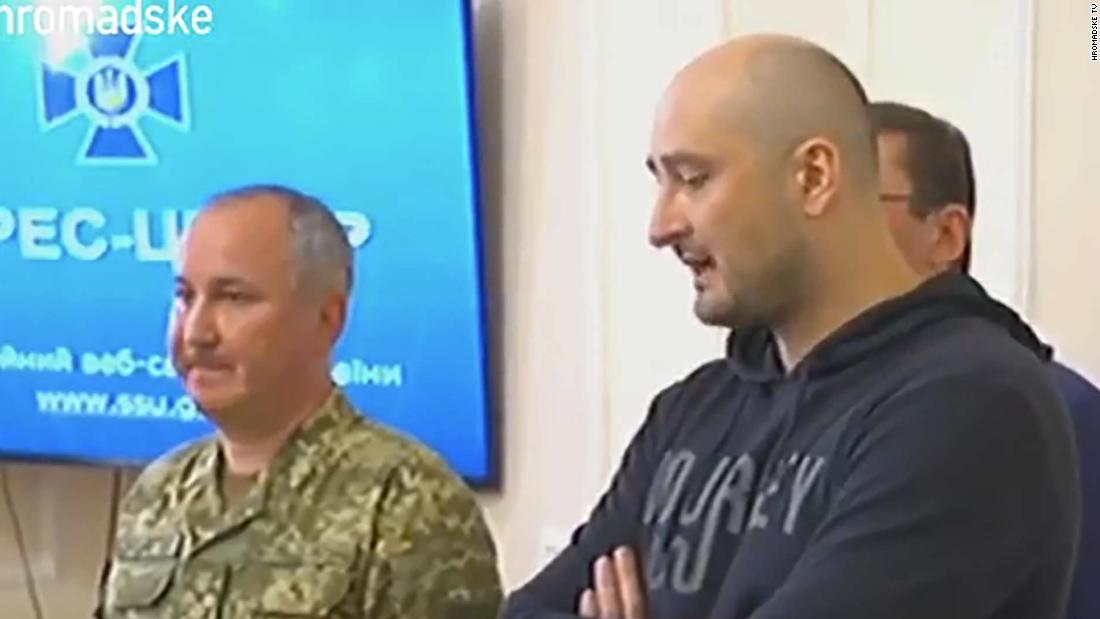 'Murdered' Russian reporter Arkady Babchenko shows up active
