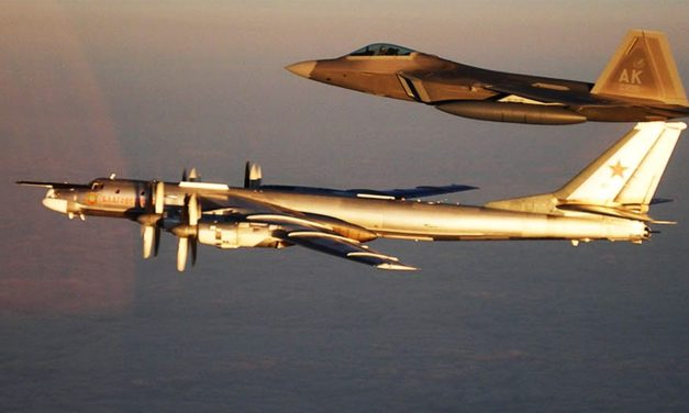 Russian bombing planes accompanied far from United States warship
