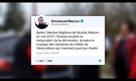 Macron elogia venezuelanos; Kremlin denuncia usurpação