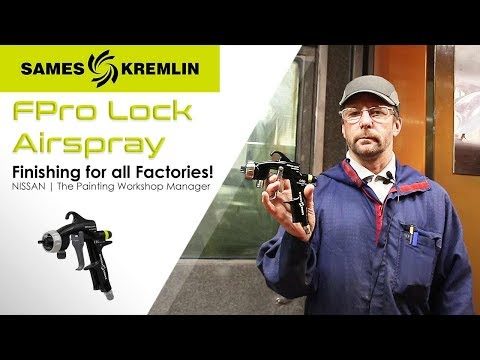 FPro Lock Airspray: the Painting Workshop Manager at NISSAN (UK)|SAMES KREMLIN