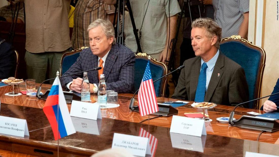 Rand Paul desires Trump to raise United States take a trip permissions on some Russian legislators