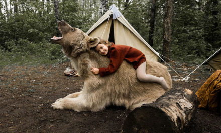 These Photos Of Russian Family Playing With Giant Bear Look Straight Out Of A Fairytale