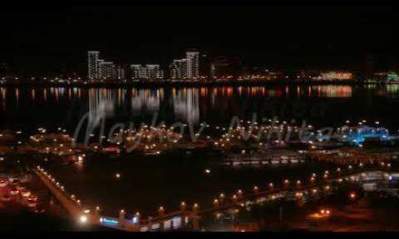Night basic view of Kazan from theKremlin The riverKazanka Kazan, Russia