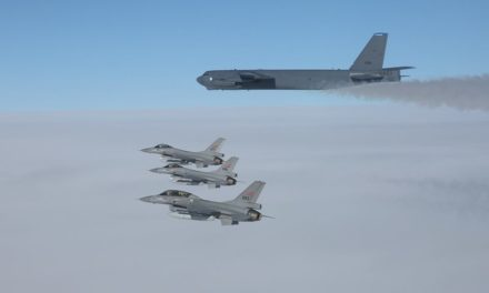 United States nuclear-capable bombing planes fly training objective near Russia