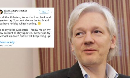 Julian Assange messaged a counterfeit Sean Hannity account on Twitter