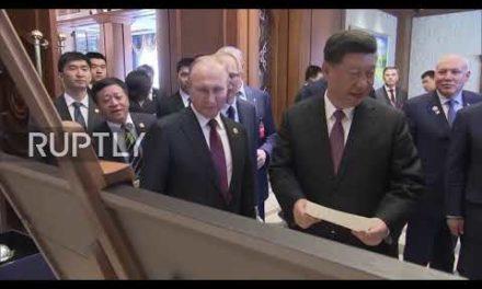 China Xi provides Putin Legendary Horse on the Great Silk Road porcelain figurine