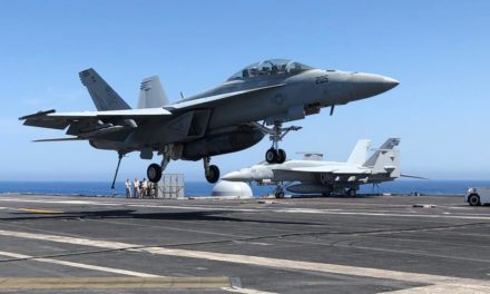 In the Mediterranean, United States attack aircraft carrier procedures function as drifting American diplomacy