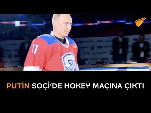 Putin Soc ̧i' de hokey maçına çıktı