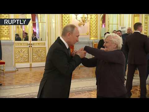 Putin satisfies his initial educator in Kremlin