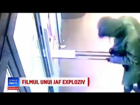 Filmul jafului cu exploziv hubbub Capitala!! In mai putin de 10 secunde au reusit sa fure 100.000EUR!!