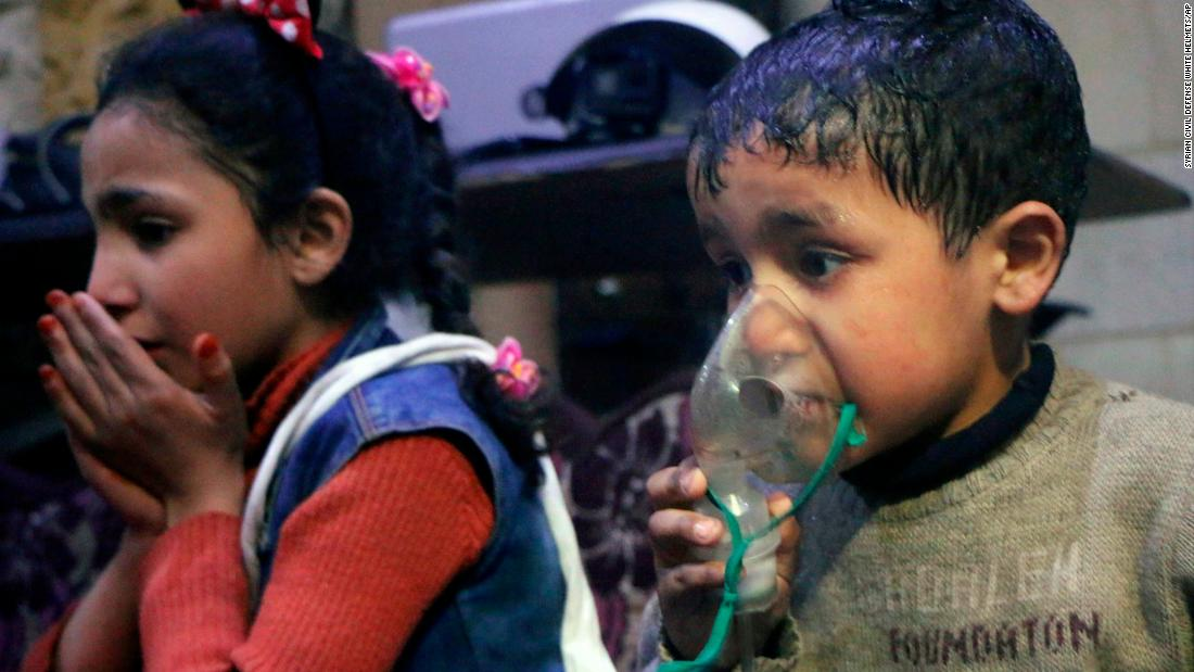 Trump and also others condemn chemical assault in Syria that Russia calls a 'scam'