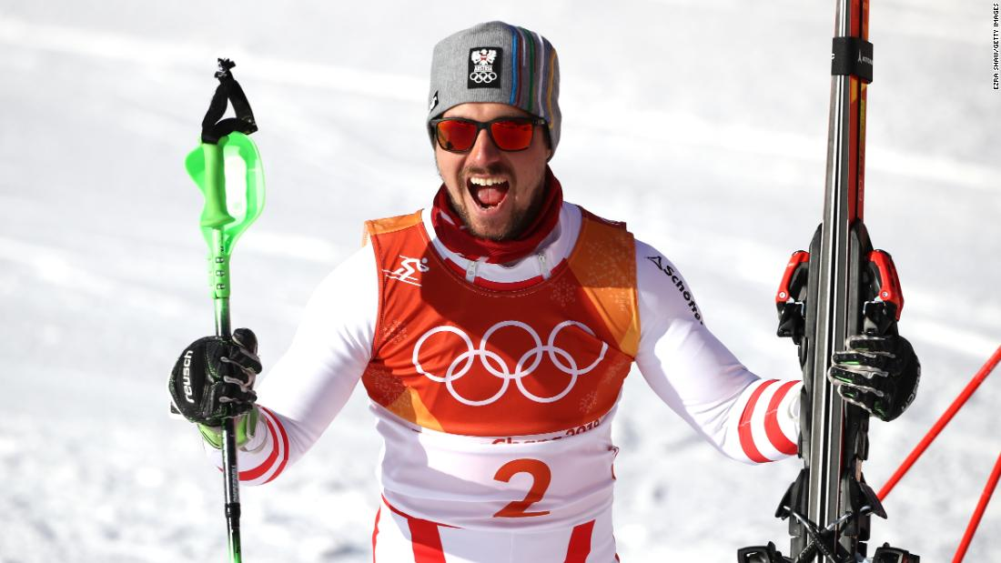 Marcel Hirscher wins breaking-in Olympic aluminum after this fashion Chloe Kim triumphs adit halfpipe