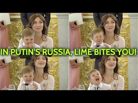 CHARMING! Adorable Boy Caught In Epic Wince On Discovering Lime At Kremlin Event With Putin