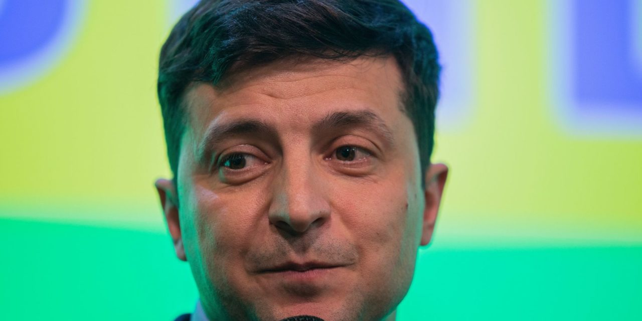 A Comedian Who Plays Ukraine's President On TELEVISION Is Leading The Country's Election