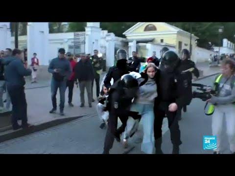 """Manifestations à Moscou: le Kremlin juge """""""" justifiée"""""""" la fermeté de la authorities"""