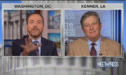 Chuck Todd en route to Bull Moose Party Senator: Youre Selling front Same Argument after this fashion Putin!