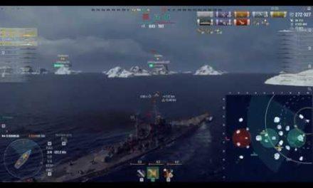 World of Warship – Kremlin 272 026 Dégats -Îles De Glace