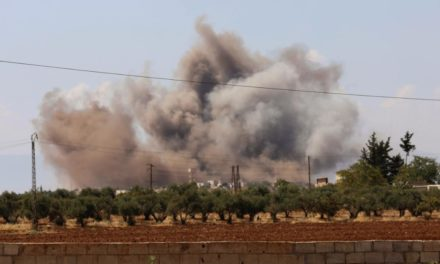 Airstrikes hit Syria's Idlib district, the last continuing to be rebel fortress