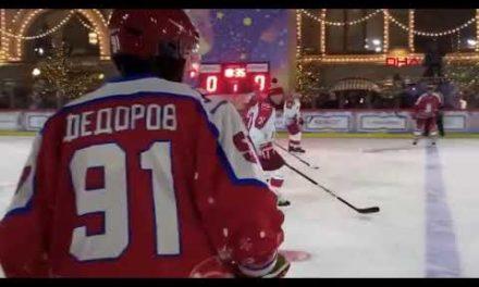 Putin, buz hokeyi oynadı